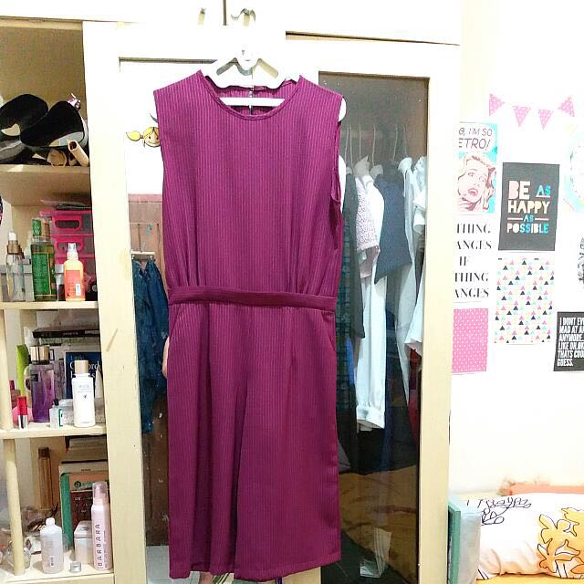 [REPRICE!!!] RED WINE JUMPSUIT