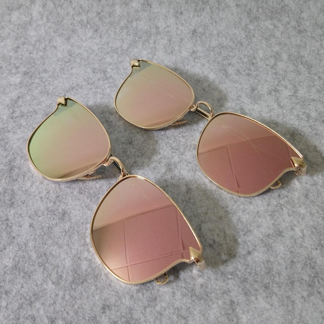 Rita Sunglasses-Rose Pink Mirror