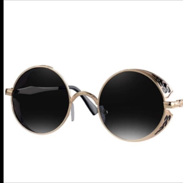 Round Steampunk Sunglasses Women
