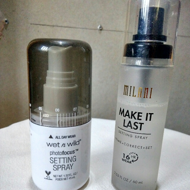 SETTING SPRAYS BUNDLE: Milani Make It Last and Wet n Wild Photofocus