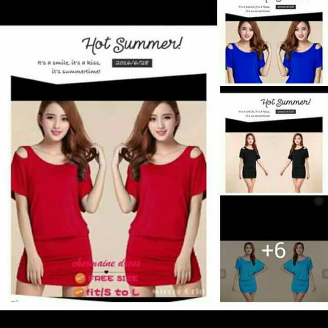 Short Dress Or Long Blouse For Woman