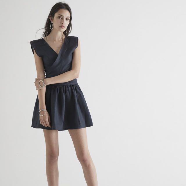 Sir The Label - Navy Linen Dress