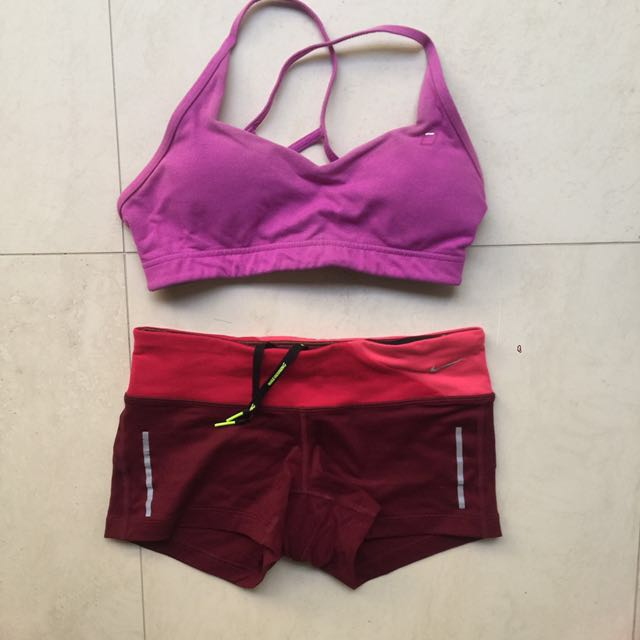 Sports shorts and crop