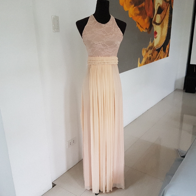 Tan Tease Long Gown (size:small), Preloved Women\'s Fashion, Clothes ...