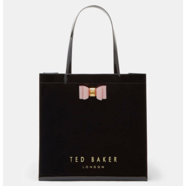 Ted Baker Classic Patent Shopper Tote