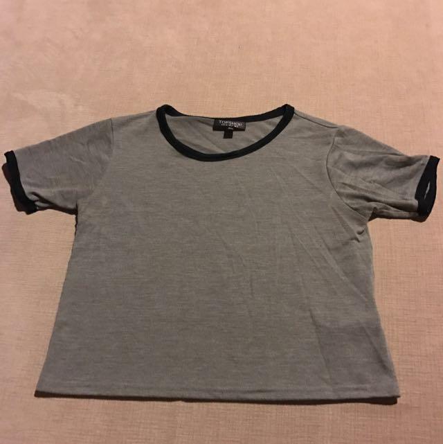 Top shop Grey T-shirt Size 6