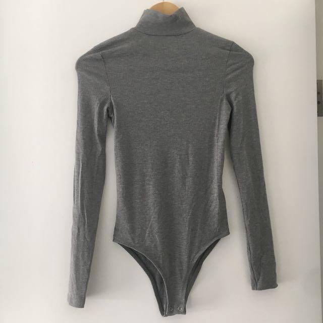 Topshop Ribbed Bodysuit Size 8