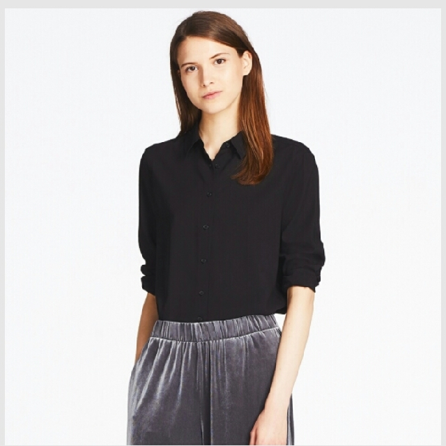 5c8172f9a2 RTP 29.90 Uniqlo women rayon long sleeve blouse, Women's Fashion, Clothes,  Tops on Carousell