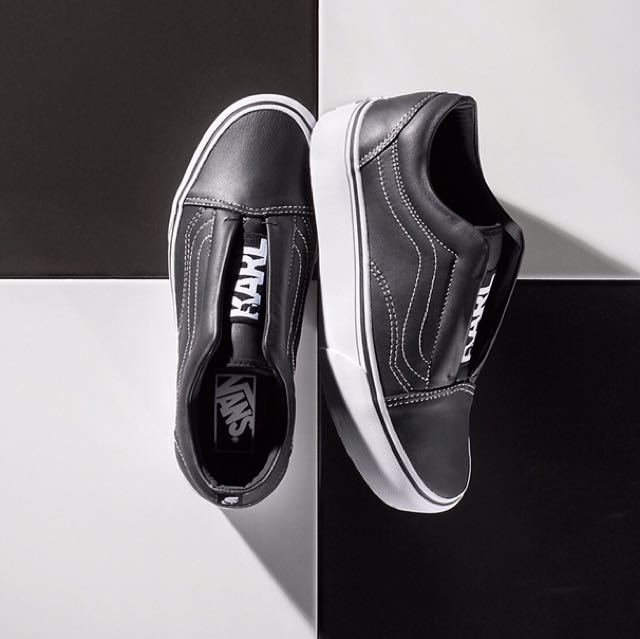 30a40be20ad0 VANS X KARL LAGERFELD OLD SKOOL LACELESS PLATFORM