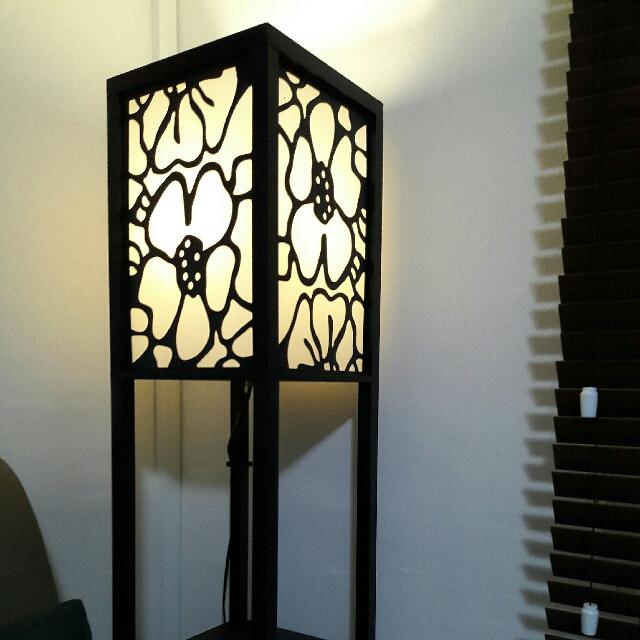 Wooden floor Lamps