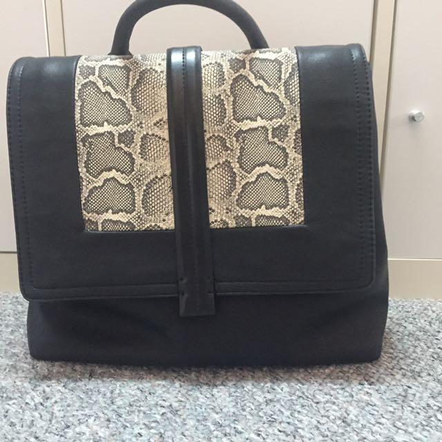 ZARA Basic Two Tone Snake Skin Bag