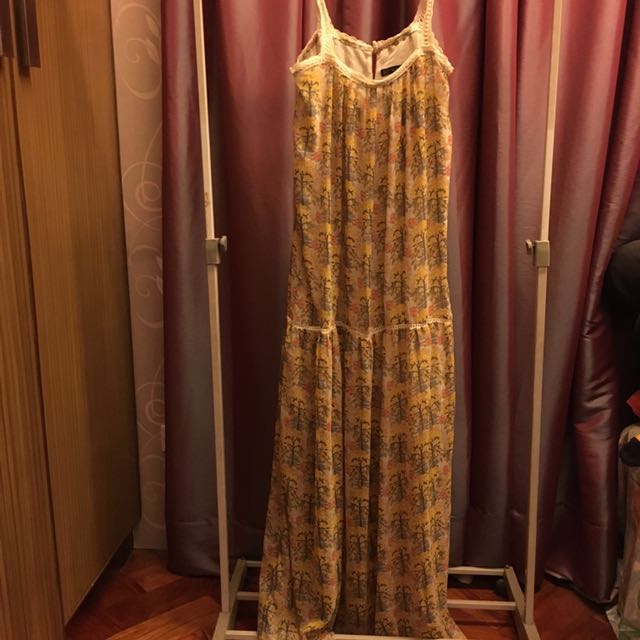 Zara Long Yellow Dress