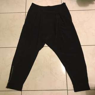 Zara 基本 黑色 薄 飛鼠褲 長褲