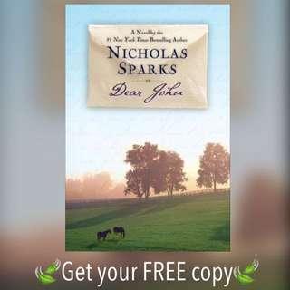 #FREE Ebook Dear John Nicholas Sparks