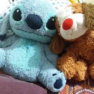 Stuff Toy Stitch And Dog From Blue Magic