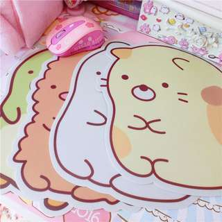 cute japanese pvc mouse pad
