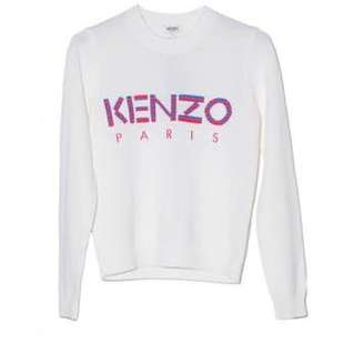 Kenzo White Knitted Sweater