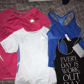 Nike, adidas, Lorna Jane tops