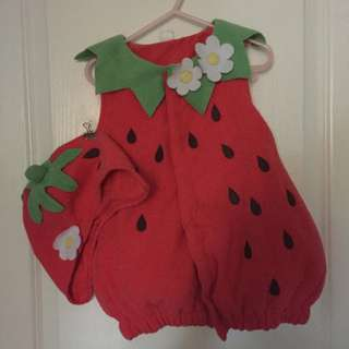 Toddler Strawberry Costume Set Size 2-3T