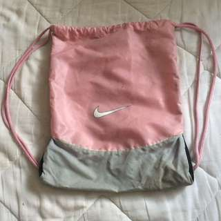 Nike pink draw string bag