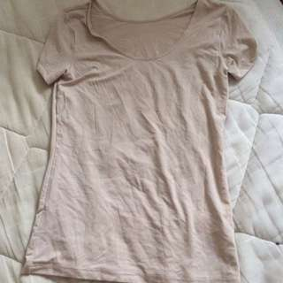 Uniclo Spandex undershirt never worn beige