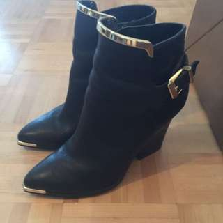 Aldo Black Leather Boots