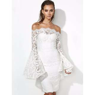 GEORGINA DRESS Miss Holly XS white