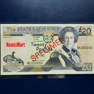 £20 - SPECIMEN - State Of Jersey