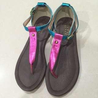 LOWRYS  FARM✨九成新✨百貨品牌撞色涼鞋