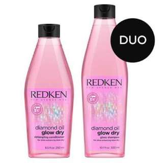 Redken Diamond Oil Glow Dry Gloss Shampoo And Conditioner