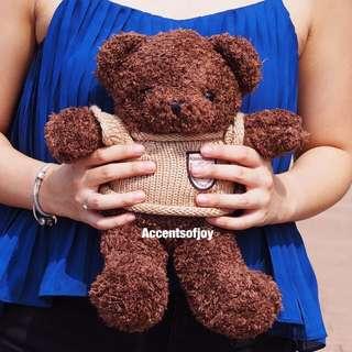 Small teddy bear brown light brown