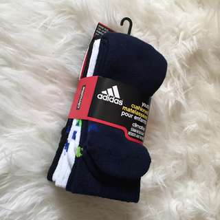 3 Pack Adidas Socks (Fits Size 5-6 Women)