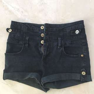 'ally' high-waisted shorts (size 8-10)