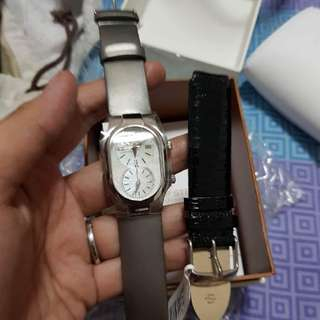 Authentic Philip Stein Small mother of pearl watch