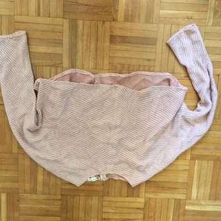 Bubblegum Pink Cropped Knit Sweater
