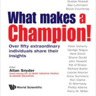 Allan Snyder - What Makes A Champion