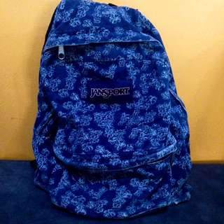 Original Denim Blue Jansport Bag