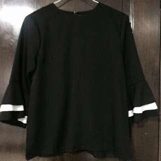 Black Ruffles blouse