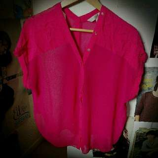 Forever New pink top