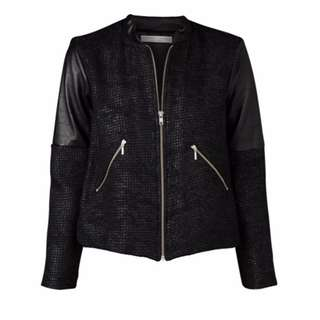 VIKTORIA & WOODS STARK BOMBER METALLIC TWEED JACKET