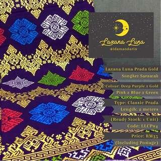 Laxana Luna: Prada Gold Songket Sarawak LLCP04