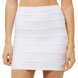 Kookai Bandage Skirt Size 1 Off White