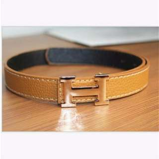 Boys Accessories Fashionable Boys Belt Cool Letter H Frame Buckle