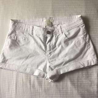 Authentic H&M White Denim Cuff Shorts