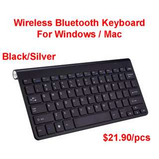 Wireless Bluetooth Keyboard For Macbook and Windows Laptop/ PC Apple TV TV Box console PS4