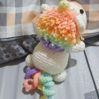 <1pc left! $45> handmade crochet unicorn
