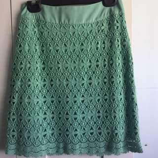 Portmans Green Crochet Lace Skirt