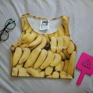 超ㄎㄧㄤ太空棉短版香蕉上衣