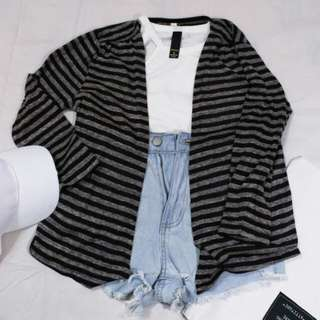 FREEPOS BNWT Kitchens Stripes Cardigan #malaysia54