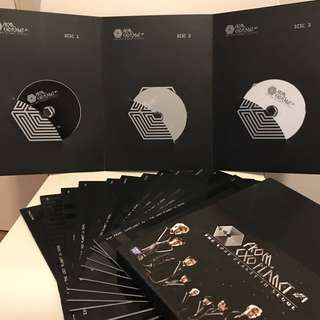 EXO 演唱會 3 DVDs 加 12本寫真